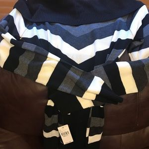 Alyx Black and White Striped Sweater with Tie